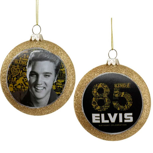 Front and Back View - Elvis 85th Birthday Ornament