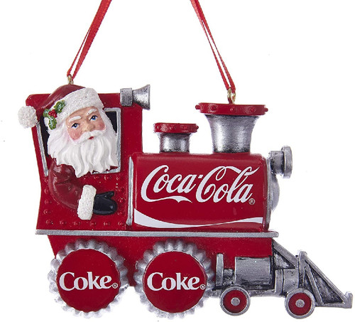 Coca- Cola Santa Train Ornament