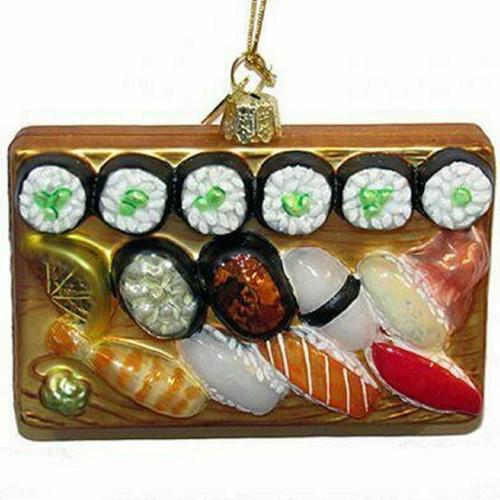 Sushi Platter Glass Ornament