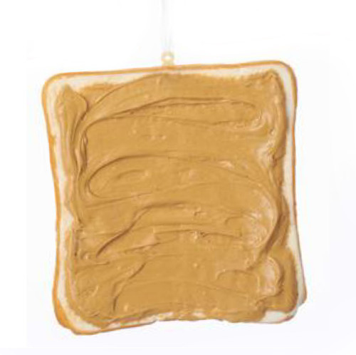 Sliced Toast With Peanut Butter Ornament