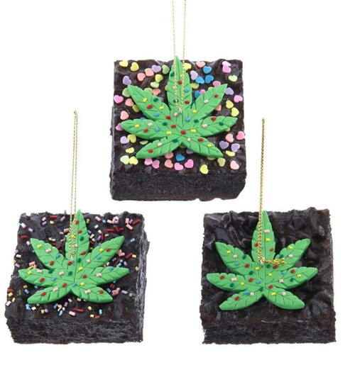 "'""Special Brownies"" with Pot Leaf Sprinkles"