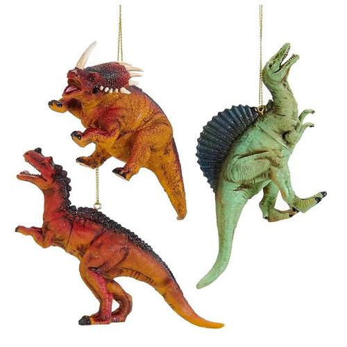 Set of 3 Dinosaur Ornaments