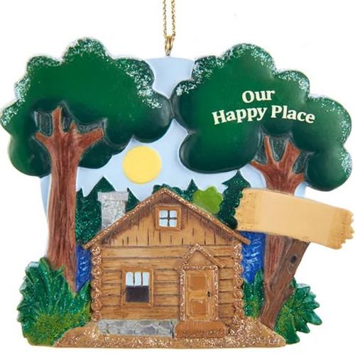 Lake Cabin Ornament For Personalization