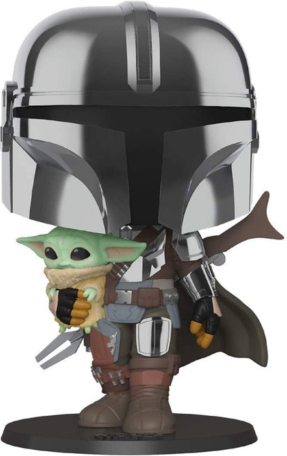 "Star Wars 10"" Mandelorian Carrying The Child Funko Pop! Vinyl Figure 49931"
