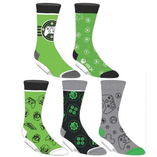 XBOX - 5 PK Men's Crew Socks