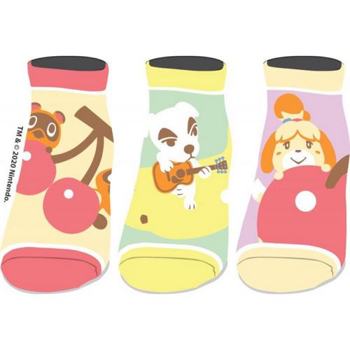 Animal Crossing  3-Pair Ankle Socks