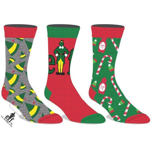 Elf Crew Socks 3-Pair Pack