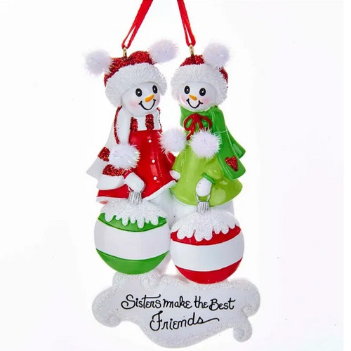 Sisters Make the Best Friends Personalized Ornament