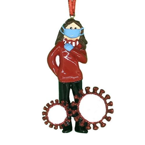 Survived Corona Girl ornament