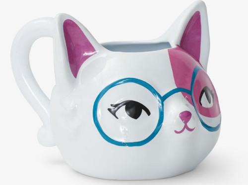 Kitty Cat Book Club 12 oz Sculpted Mug