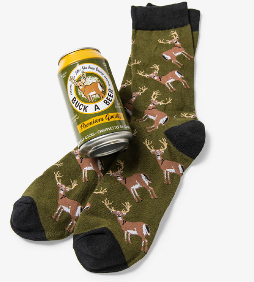 Buck A Beer Men's Beer Can Socks by Hatley