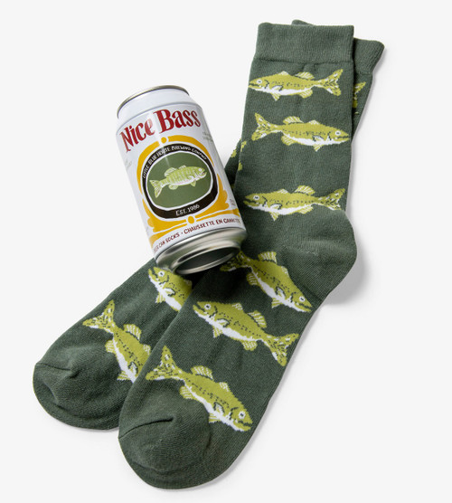 Nice Bass Men's Beer Can Socks by Hatley