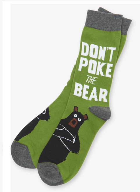 Don't Poke the Bear Men's Crew Socks by Hatley