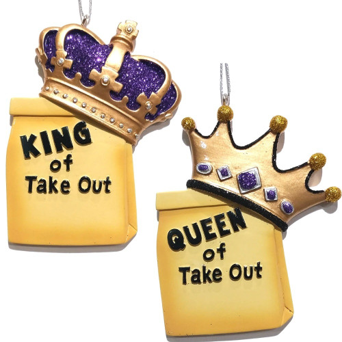 King or Queen of Take Out Personalized Ornament