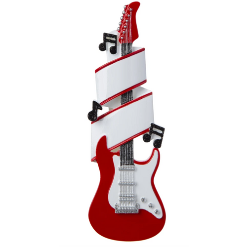 Red Guitar Personalized Ornament