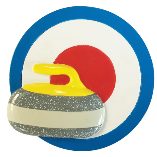 Curling Rock and House Ornament