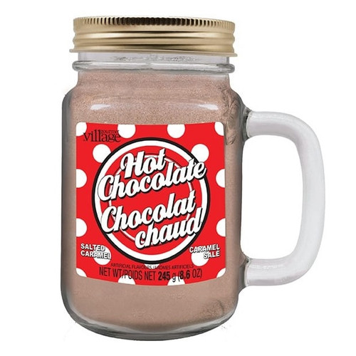 Salted Caramel Hot Chocolate Mix in a Mason Jar