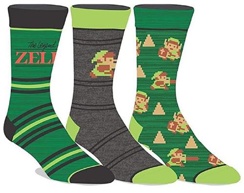 Legend of Zelda Crew Socks 3-Pair Pack by Bioworld