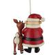 Back - Rudolph & Santa Ornament