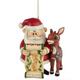 Rudolph & Santa Ornament