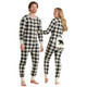Cream Plaid His and Hers Union Suits