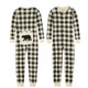 Cream Plaid Matching Family Pajamas for Adults, Kids & Baby