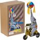 Elephant on Bike Wind-Up Tin Toy