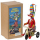 Duck on Bike Wind-Up Tin Toy