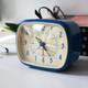 Retro Alarm Clock-Blue