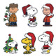 Peanuts Holiday Window Clings SET of 3