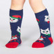 Kids Santa Claws Knee High Socks by Sock It To Me Front View