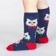 Kids Santa Claws Knee High Socks by Sock It To Me Side View
