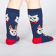 Kids Santa Claws Knee High Socks by Sock It To Me Back View