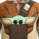 Star Wars The Mandalorian Men's Union Suit Close-Up View
