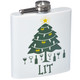 Festive Holiday Stainless Steel Flasks - Lit