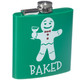 Festive Holiday Stainless Steel Flasks - Baked