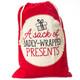 Christmas Santa Sack - A Sack of Badly-Wrapped Presents
