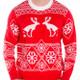 Pooping moose ugly sweater crop