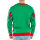 Crapper Claus Naughty Sweater - Rear