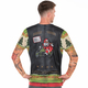 Born to Ride Men's Christmas Biker T-Shirt with Tattoo Sleeves by Faux Real - Back