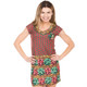 Women's Bow-tiful Ugly Christmas Sweater Dress Faux Real - Front