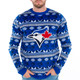 Men's Toronto Blue Jays Ugly Christmas Sweater 2017 Big Logo