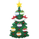 Six - Green Christmas Tree Personalized