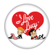 I Love Lucy Logo Button