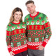 Santa's Workshop Cheesy Christmas Sweater Couple