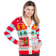 Candy Cane Christmas Sweater Cardigan  - hers