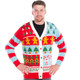 Candy Cane Christmas Sweater Cardigan - his