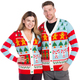 Candy Cane Christmas Sweater Cardigan - his and hers