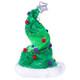 Tinsel Christmas Tree Hat