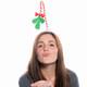 Mistletoe Headband Kiss